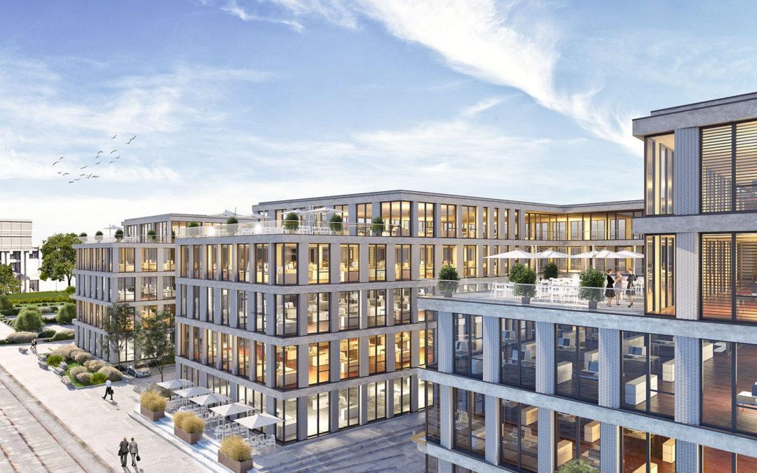 Der Baustart für den Bürokomplex und Parkhaus Neptun Kai